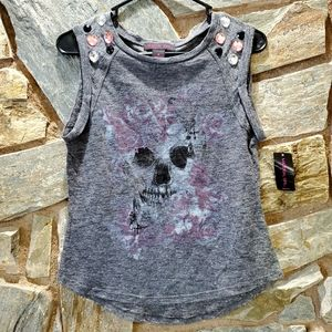 ***3 for $15 Material Girl Skull Tank Top  sz sm